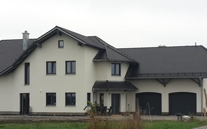 Massivholzhaus (verputzt)